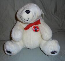 "Coca Cola 1995 Vintage Polar Bear 13"" Plush Soft Toy Stuffed Animal"