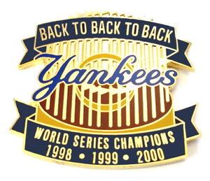 New York Yankees Champions Pin World Series Back-Back-Back MLB Baseball Pins@!!@