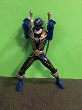Power Rangers Super Megaforce Double Battle Action Blue Ranger Figure