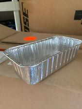 Foil 2 lb. Aluminum Loaf Pan 500 Case  - Disposable HEAVY DUTY Bread Tins