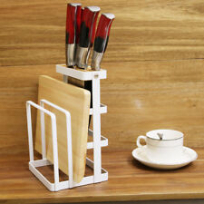 Kitchen Knife Cutting Board Holder Chopping Stand Rack Storage Shelf Rack Tool