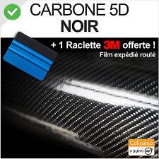 film vinyle adhésif carbone 5D (4D Style) Noir 152cm x 30cm +raclette 3M pro