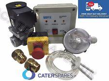 "CUCINA Commerciale Gas Interlock KIT 1/2 ""GAS VALVOLA SOLENOIDE & ADATTATORI 15mm"
