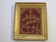 19TH CENTURY RELIGIOUS ICON GENERATIONAL FOLK ART GOLD GILT FAMILY TREE MASTER
