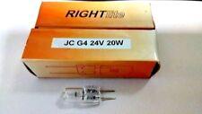 """LAMPADINA G4 24V 20W  HALOGEN MARCA """"RIGHTlite"""" CODICE ARTICOLO : JC G4 24V20W"""