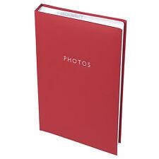 """Classique en cuir synthétique rouge album photo 300 photos 6"""" x 4"""" picture book family"""