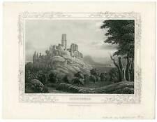Bonn Bad Godesberg - Aquatinta Rüdisühli 1868