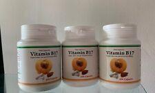 3 Bottles Of Organic Vitamin B17 Bitter Apricot Kernels 400mg / 300 caps