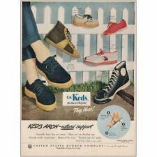 1949 US Keds Shoes: Arch-Natural Support Vintage Print Ad