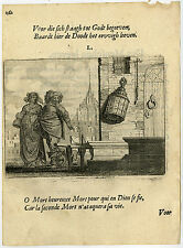 Antique Print-DEATH-UNLIT LANTERN-HEAVEN-DEVENTER-EMBLEM-50-Savery-Veen-1642