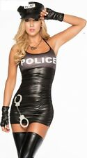 Size XL Sexy Womens Police Costume Officer Lady Policewoman Cosplay Lingerie