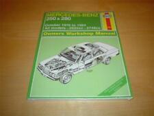 Haynes MERCEDES W123 250 250T 280 280E 280TE 280C 280CE T Owners Manual Handbook