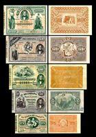 2x 25, 50, 100, 500, 1000 Pesetas - Edición 01.01.1884 - Reproducción - 40