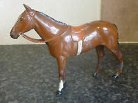 VINTAGE BRITAINS RACING COLOURS OF FAMOUS OWNERS LIGHT BROWN HORSE VGC FOR AGE