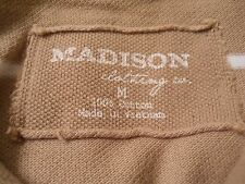 Madison Clothing Co.TAN / KHAKI Size M Short Sleeve Polo Pullover Men Shirt