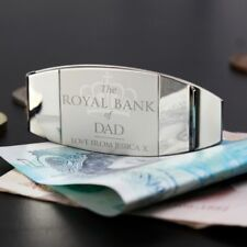 Personalised Engraved Royal Bank of Money Clip Gift Present for Men Fathers Day