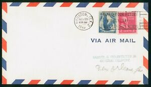 MayfairStamps US First Flight Cover 1956 Houston to New Orleans Louisiana Aviati