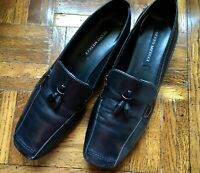 SESTO MEUCCI BLACK LEATHER TASSEL LOAFERS, ITALY, SIZE 8M, GENTLY WORN