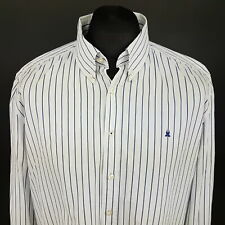 Gaastra Mens Shirt Nautical 2XL Long Sleeve White Regular Fit Striped Cotton