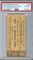 1948 NEGRO LEAGUE BASEBALL TICKET HOMESTEAD GRAYS V INDIANAPOILIS CLOWNS PSA
