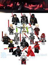 16PCS Star Battle Evil Lightsaber Jedi Order Mini Figure Building Blocks DIY Toy