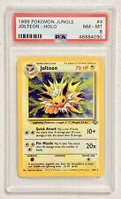1999 Pokemon Jungle Unlimited Jolteon Holo #4/64 – PSA 8 (NM-MT)