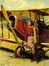 """James DIETZ Aviatrix Shooting Star Curtiss JN-4 """"Jenny"""" Bi-plane w/ROBERT TAYLOR"""