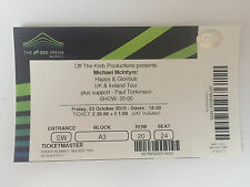 USED MICHAEL McINTYRE TICKET STUB @ O2 ARENA, LONDON 23rd OCTOBER 2015 - MINT