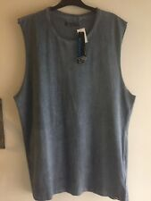 Carve Square Root Mens Muscle Blue Pigment Size 3XL Singlet Muscle Tank Top BNWT