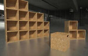 "Record Storage Cube Box Crate Stackable osb 12"" Vinyl LP Rack"