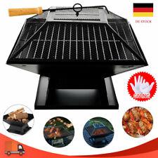 Feuerschale BBQ Grill Feuerstelle Terrasse Feuerkorb Gartenfeuer Funkenschutz