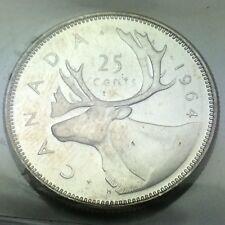 1964 Canada 25 Twenty Five Cents Quarter Canadian Graded ICCS XNI 253 Coin D072