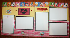 Disney 12 x 12 premade scrapbook layout 3D handmade double page photo ready