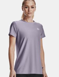 UNDER ARMOUR Women's UA Velocity Shine Purple Haze Short Sleeve Size Large  NWT