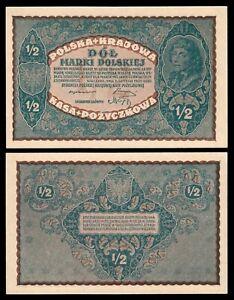 Polonia - Poland  1/2 Marki Polskiej  7-2-1920 Pick 30  SC = UNC