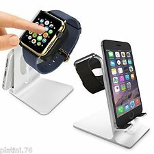 NUOVO Orzly- DuoStand Charge Station per Apple Watch2015& iPhone - alluminio