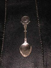More details for rare antique large solid silver chow chow dog spoon 1931