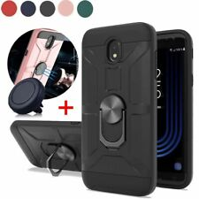 For Samsung Galaxy J7 V 2018/Crown/Refine/Star Case Ring Stand Cover+Car Holder