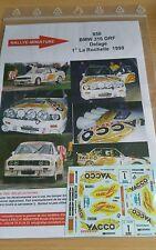 Decals 1/24 réf 850 BMW 316 GR F DELAGE LA ROCHELLE 1998