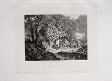 Ludwig Richter Brunnen La Riccia Italien Esel Tamburin Wald Baum Bäume Fels Ast