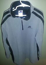 Russell Athletic Fleece Long Sleeve Grey Black Sport Pullover Size 8