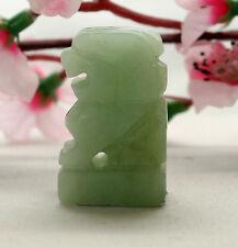 Figur Jade Jadeschnitzereie Fu Hund China Feng Shui Asiatika Tempellöwe
