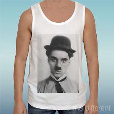 """Canotta T-Shirt """" Charlie Chaplin Face """" Tank Top Gift Idea"""