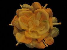 Vintage Millinery Flower Melon Orange Complex Organdy for Hat Wedding + Hair G11
