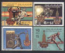 Libya 1979 Olympic Games/Sports/Football/Horses/Athletics/Olympics 4v set n34020