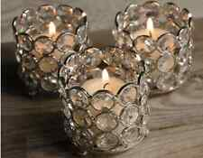 Crystal Beaded Votive Tealight Candle Holders Wedding Centerpieces Set Of 4 Pcs