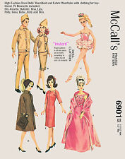 1963 Barbie & Ken Doll Clothes sewing pattern - sew and knit patterns