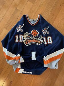 Authentic CHL QMJHL Sherbrooke Castors Game Worn Hockey Jersey - Bauer