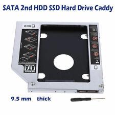9.5mm SATA HDD SSD Für CD/DVD-ROM Festplattenlaufwerk Caddy Adapter Schwarz RHN2