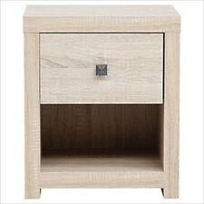 TORINO BLEACHED OAK EFFECT 1 DRAWER BEDSIDE TABLE SIDE TABLE CHEST STORAGE UNIT
